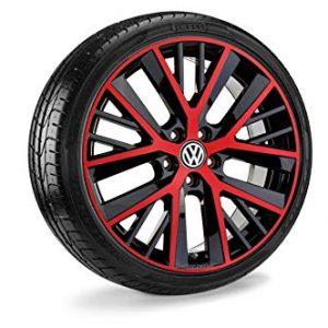 Летнее колесо в сборе VW Golf в дизайне Twinspoke Red,  225/35 R19 88Y XL, Tornado red, 7.5J x 19 ET51
