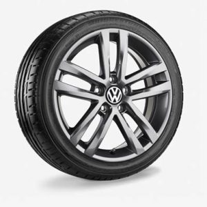 Летнее колесо в сборе VW Golf в дизайне Salvador, 225/45 R17 91Y, Gray Metallic, 7.0J x 17 ET49