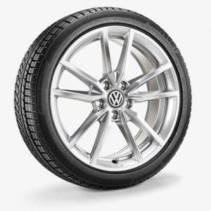 Зимнее колесо в сборе VW Golf в дизайне Pretoria, 225/40 R18 92V XL, Silver, 7.5J x 18 ET51