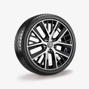 Летнее колесо в сборе VW Golf в дизайне Twinspoke,  225/35 R19 88Y XL, Black, 7.5J x 19 ET51