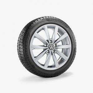 Зимнее колесо в сборе VW Golf в дизайне Dijon, 205/50 R17 93V XL, Silver, 6.0J x 17 ET48