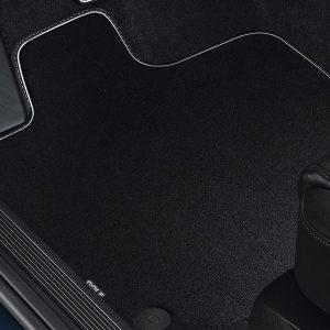 Коврики в салон Volkswagen Golf 7, текстильные Premium передние и задние, черные