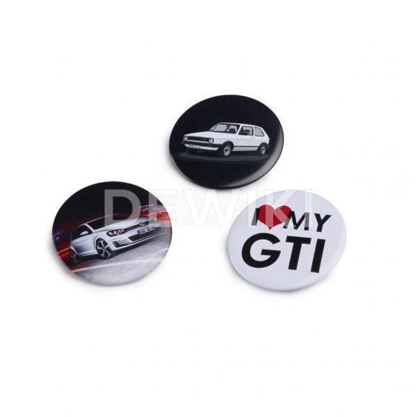 Набор из трех значков Volkswagen GTI
