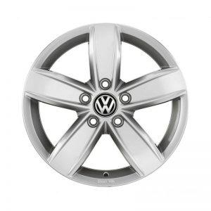 Диск литой R15 Volkswagen Golf 7, Corvara Brilliant Silver, 6J x 15 ET43
