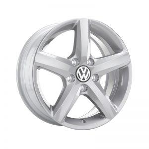 Диск литой R16 Volkswagen, Aspen Brilliant Silver, 6J x 16 ET50