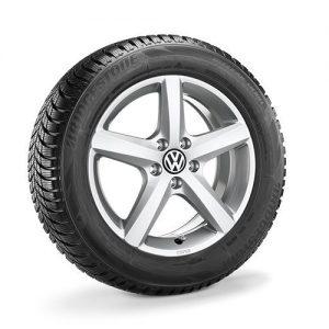Зимнее колесо в сборе VW Passat в дизайне Aspen, 215/60 R16 99H, Silver, 6.5J x 16 ET42