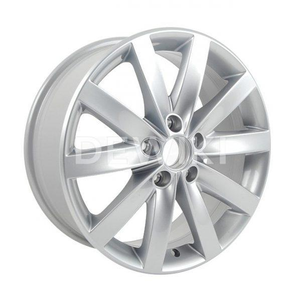 Диск литой R17 Volkswagen, Porto Brilliant Silver, 7J x 17 ET54