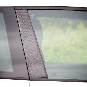 Декоративные накладки средних стоек Volkswagen Golf 6, 4-х дверных Carbon