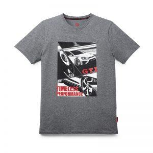 Мужская футболка GTI, серый меланж