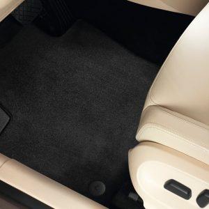 Коврики в салон Volkswagen Golf Plus, текстильные задние, черный