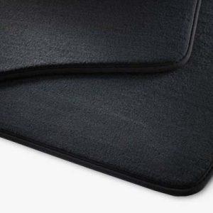 Коврики в салон Volkswagen Tiguan (5N), текстильные задние, черные