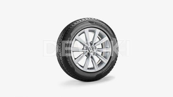 Зимнее колесо в сборе VW Tiguan в дизайне Philadelphia, 215/60 R17 96H, Silver, 6.5J x 17 ET33