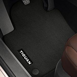 Коврики в салон Volkswagen Tiguan (5N), текстильные Premium передние и задние, черные