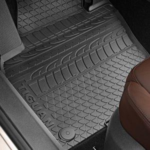 Коврики в салон Volkswagen Tiguan (5N), резиновые передние и задние, текстура профиль шин