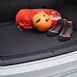 Коврик в багажник Volkswagen Tiguan (5N) с 2016 года, для автомобилей с базовым полом багажника