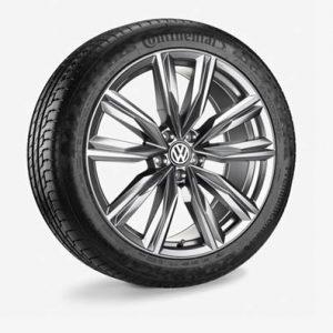 Летнее колесо в сборе VW Tiguan в дизайне Kapstadt,  235/45 R20 100W XL, Gray Metallic, 8.0J x 20 ET41