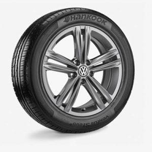 Летнее колесо в сборе VW Tiguan в дизайне Sebring,  235/55 R18 100V, Grey Metallic, 7.0J x 18 ET43