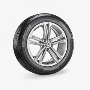 Зимнее колесо в сборе VW Tiguan в дизайне Sebring, 235/55 R18 100 H, Silver, 7.0J x 18 ET43