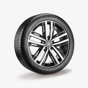Зимнее колесо в сборе VW Tiguan в дизайне Auckland, 235/50 R19 103V XL, Silver, 7.0J x 19 ET43