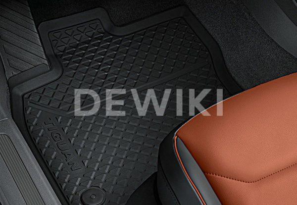 Коврики в салон Volkswagen Tiguan (5N) с 2016 года, всепогодные передние и задние