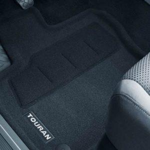 Коврики в салон Volkswagen Touran 2, текстильные Optimat передние и задние, 3D