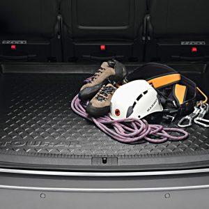 Коврик в багажник Volkswagen Touran 1 / 2, 7-местный, с надписью