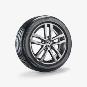 Летнее колесо в сборе VW Touran в дизайне Salvador, 215/55 R17 94W, Silver, 6.5J x 17 ET52