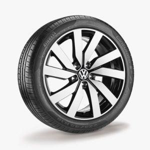 Летнее колесо в сборе VW Touran в дизайне Marseille,   225/45 R18 95W XL, Black, 7.0J x 18 ET52
