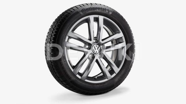 Зимнее колесо в сборе VW Touran в дизайне Salvador, 215/55 R 17 94H, Galvano gray Metallic, 6.5J x 17 ET52
