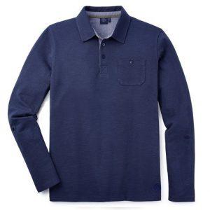 Мужская рубашка-поло с длинным рукавом Volkswagen, Dark Blue
