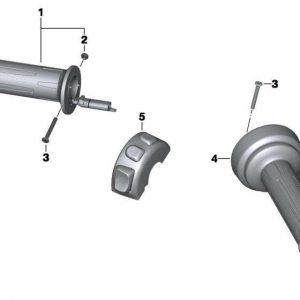 Ручка руля с обогревом для версии с круиз-контролем BMW S 1000 R / RR / R 1200 GS / C evolution 2012-2018 год, левая
