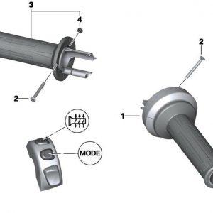 Ручка руля с обогревом для версии с круиз-контролем BMW S 1000 R / RR / R 1200 GS / C evolution 2012-2018 год, правая