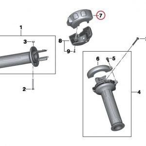 Мультифункциональный переключатель для активации обогрева ручек и сиденья BMW С 600 / 650 GT / Sport / R 1200 RT 2009-2019 год
