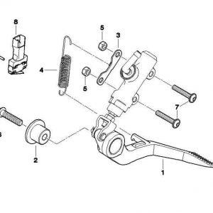 Микро-переключатель фрезерованной подножки BMW R nineT / S 1000 RR / R 1200 R