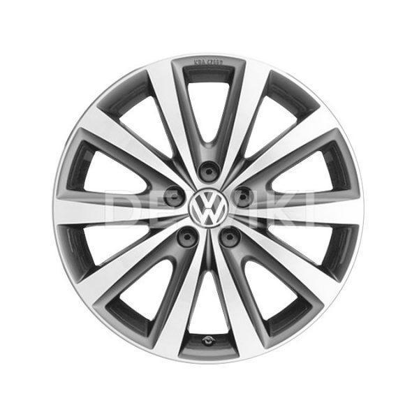 Диск литой R17 Volkswagen, Syenit Grey Metallic, 7J x 16 ET46