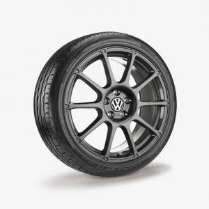 Летнее колесо в сборе VW Polo в дизайне Motorsport,  215/40 R17 87W/ZR XL, Black, 7.0J x 17 ET46