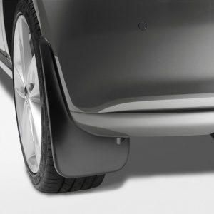 Брызговики передние Volkswagen Polo 5, укороченной формы