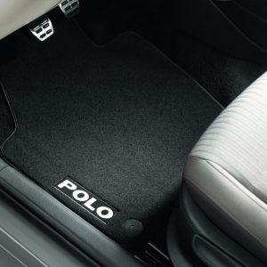 Коврики в салон Volkswagen Polo 5, текстильные Premium передние и задние, черные