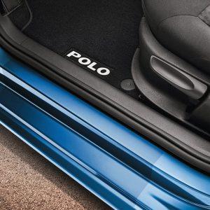 Защитная пленка на пороги Volkswagen Polo 5,  2-дверные