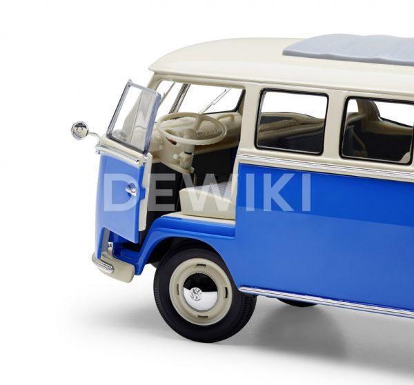 Модель в миниатюре 1:18 Volkswagen T1 Samba Van (1962), Blue / Cream