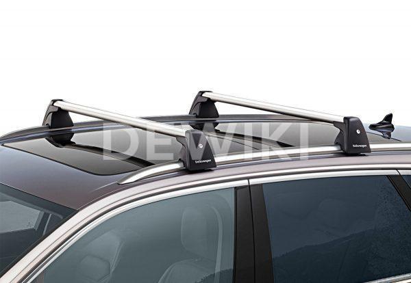 Багажные дуги Volkswagen Touareg (D2), для автомобилей с релингом крыши