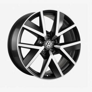 Диск литой R20 Volkswagen, BRAGA Black Silver, 9,0J x 20 ET33