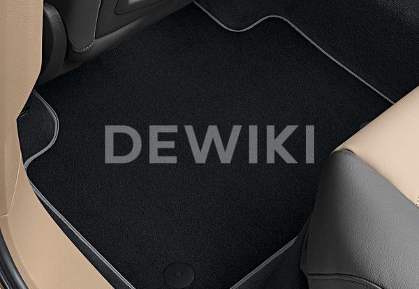 Коврики в салон Volkswagen Touareg (D2), текстильные Premium передние и задние, черные