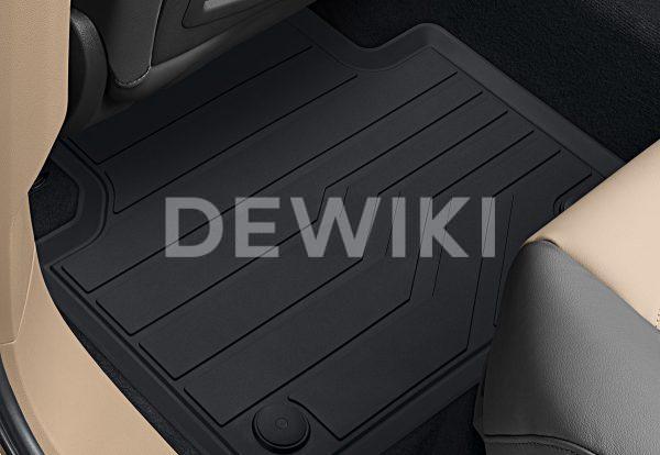 Коврики в салон Volkswagen Touareg (D2), резиновые передние и задние