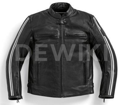 Мужская кожаная мотокуртка BMW Motorrad TwinStripes, Black