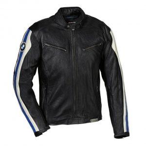 Мужская кожаная мотокуртка BMW Motorrad Club, Black/White