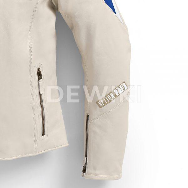 Мужская кожаная куртка BMW Motorrad Club Spezial, Offwhite