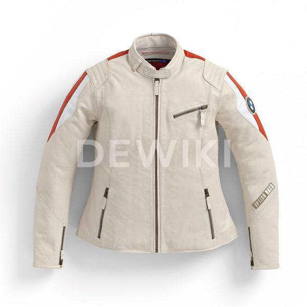 Женская кожаная куртка BMW Motorrad Club Spezial, Offwhite