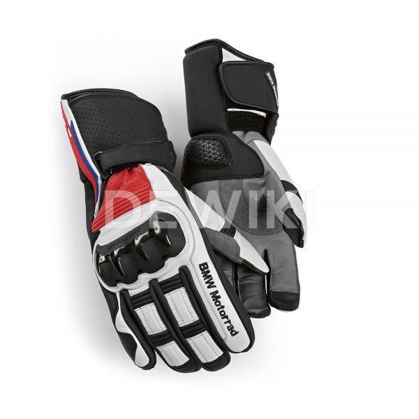 Мотоперчатки BMW ProRace 2019, Black/White/Red