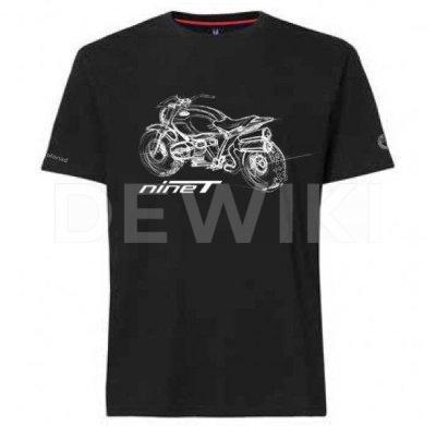 Мужская футболка BMW Motorrad, R nineT Scrambler, Black